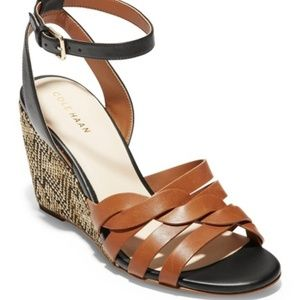 NEW - Cole Haan Myra Braided Strap Wedge Sandal